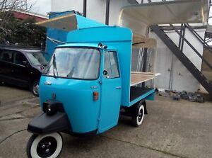 Piaggio APE50 catering van ,pizza,coffee,ice creaam,advertise..