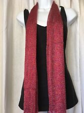 Shimmer shine sparkle Lightweight Scarf rainbow red sparkle  80 inches