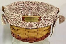 Vintage 2002 Longaberger Woven Memories Basket Combo Signed by Judy 8 & Jeff 12