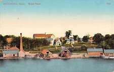 Richmond Maine Waterfront Scene Historic Bldgs Antique Postcard K24871