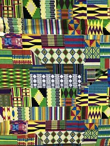African wax fabric. 6yards Brand New Afric Wax. 100% cotton.