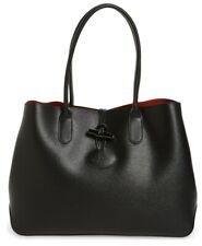 Longchamp ROSEAU Black Leather Medium Tote Style L2686871001