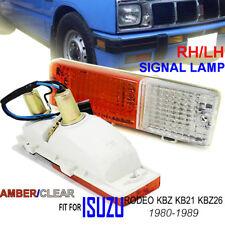 FOR Isuzu Pick Rodeo KBZ KB26 Amber Clear Front Bumper Turn Signal Lights 80-89