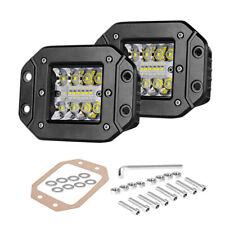 2x5flush Mount Led Cube Pods Lights Backup Reverse Front Rear Bumper Fog Lights