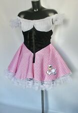 Little Bo Peep Costume Ladies Fancy Dress Shepherdess Nursery Rhyme Uk 8 10 12