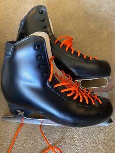 Risport black figure ice skates adult 8 mark iv  10 2/3 ultima 285