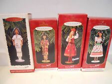 Hallmark Barbie Doll Of The World Dow Collector's Series (4) Ornaments