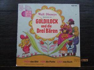 """Tonbuch + 7"""" Si. – FOC mit Booklet – Walt Disney's Goldilock und die drei Bären"""