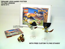 LEGO HARRY POTTER 'FLYING LESSON' #4711 DRACO MALFOY 100% COMPLETE + FREE STANDS