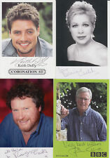 Lot of 4 x autographs of TV personalities - Craven McGrath Welch Duffy