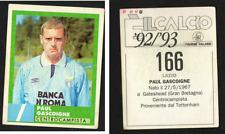 Gascoigne (Lazio) Rare Italian Issue 1992 Football! E' Iil Calcio 92/93 n.166