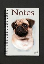 Pug Dog Notebook / Notepad with small image on every page Designed By Starprint