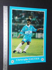 RARE CHRISTOPHE GALTIER OLYMPIQUE MARSEILLE OM FOOTBALL CPA FRANCE 1996-1997