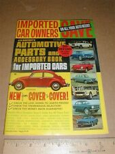 JC Whitney's Import car parts catalog vintage 1968 1969 VW Volkswagen MG Triumph