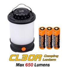 Fenix CL30R Camping Lantern Lamp USB Rechargeable LED Light +Battery - Black