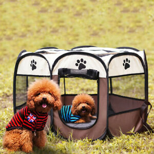 Playpen Puppy Kennel Pet Tent Cat Dog House Octagonal Cage Pet Delivery Room