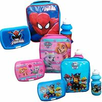 LUNCH PACK SET BAG KIDS BOYS GIRLS CHILDRENS Drink Bottle & Sandwich box Picnic