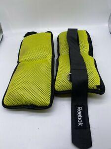 Reebok Adjustable Ankle Weights 2.5 lb.Neon Green & Black EUC