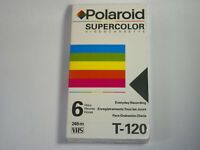 Vintage Polaroid Supercolor T-120 Brand New Sealed VHS TAPE FAST FREE SHIP