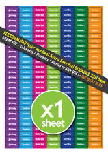 189 PERSONALISED Calendar Planner Diary Office Wall Chart Stickers 25mm x 10mm