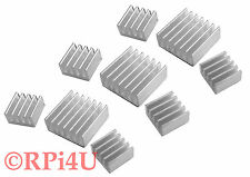 Lot of 3 Raspberry Pi Heatsink Set Aluminum - Protect your Pi from Overheating