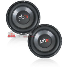 """Two (2) PowerBass L-1204D 12"""" Dual 4-Ohm L Series Car Audio Subwoofers Sub New"""