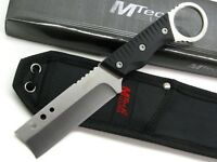 "MTECH Tactical Black G-10 Fixed 8"" Straight RAZOR Blade NECK Knife + Sheath NEW!"