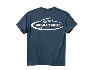 Team Realtree mens T-shirt Blue Indigo White logo 100 cotton short sleve 2XL XXL