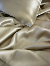 Luxury 4 pc 100% silk sheet sets King Taupe half retail by Feeling Pampered