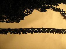 Black Bow Detail Venise Lace Trim 2 Metres   Sewing/Costume/Crafts