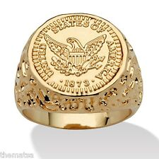 14K GOLD GP AMERICAN EAGLE SEAL OF THE PRESIDENT RING SIZE 8 9 10 11 12 13