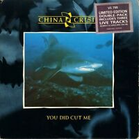 "CHINA CRISIS you did cut me VS 799 double pack uk virgin 1985 7"" PS EX/EX"