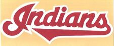 "HUGE CLEVELAND INDIANS IRON-ON PATCH - 5"" x 11.5"""