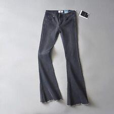 Women Kick Flare Long Bell-Bottoms Jeans Stretch High Waist Ladies Denim Pants