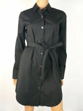 $345 Theory Black Clean Shirtdress in Stretch Cotton S 4 6 NWT Dress T531