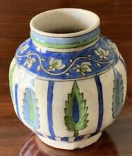 Very Early Antiquities Islamic Ceramic Pot - Iznik - Blue And Green