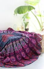Hippie Mandala Tapestry Round Yoga Mat Boho Gyspy Beach Towel Dorm Decor Throw