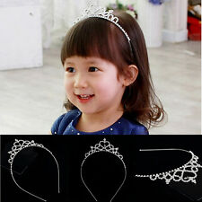 Princess Hairband Child Party Bridal Crown Headband Crystal Diamond Tiara  O