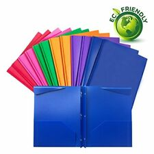 Plastic folders with pockets and prongsheavy duty folders with brads12/Pack