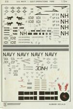 NEW 1:72 Almark Decals C 13  Vought A-7E Corsair II & Grumman F-14A Tomcat