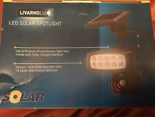 Livarno LED Solar Garden Spotlight Shed Garage PIR Motion Detector 10 LED Light