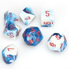 Chessex Polyhedral Dice Set: Astral Blue, White & Red Role Playing Game