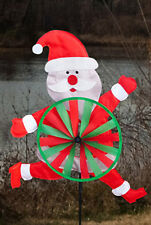 "Santa Tummy Wind Spinner Winter Christmas Decorative 15"" x 35"""