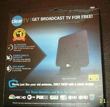 CLEAR HDTV DIGITAL INDOOR FREE BROADCAST TV ANTENNA USED IN BOX