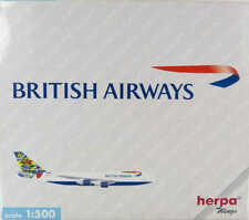 "Boeing 747-200 British Airways ""Sweden"" G-BDXG Herpa 502665 1:500"