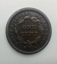 1841 Large Cent  Pleasing  Mid Grade Coin Strong Devices  Die Breaks Obverse