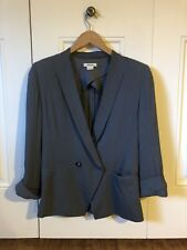EUC Helmut Lang Double Breasted Rolled Sleeve Blazer in Gray~Sz 2~$585 MSRP!