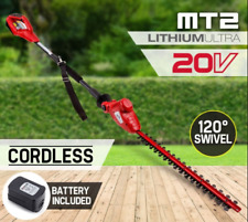 "20V Cordless Pole Hedge Trimmer 1300mAh Lithium-ion Battery 21"" Double Blade"
