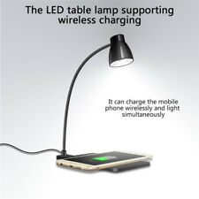 Table LED Lamp Smart Light Qi Wireless Charging Pad Charger Office for iPhone8 X