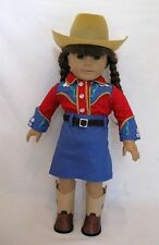 "Doll Clothes AG 18"" Molly's Cowgirl Outfit Made To Fit American Girl Dolls"